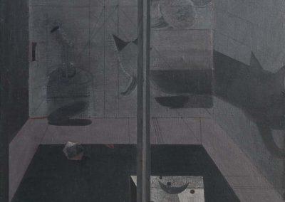 01. 2004 NATA E VALPURGES. 150cm X 150cm. Akril + Boje Metalixato Mbi Kanavace..
