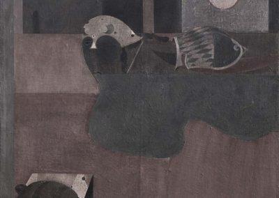 02. 2004 FARAONI. 150cm X 150cm. Akril + Boje Metalixato Mbi Kanavace..