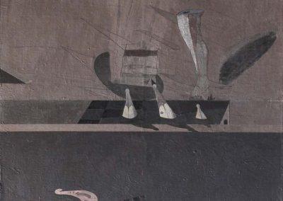 03. 2004 PLOTESIMI I VEPRES. 150cm X 150cm. Akril + Boje Metalixato Mbi Kanavace..