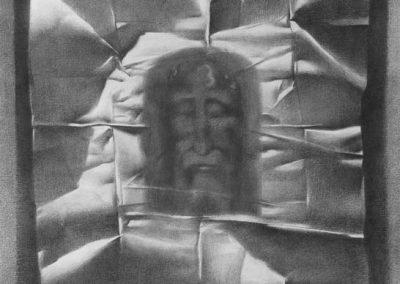 10. QEFINI I KRISHTIT. 70cm X 100cm