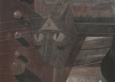 10. 2013 RRESHTIMI I PLANETEVE. 150cm X 150cm. Akril,boje Metalixato Mbi Kanavace..