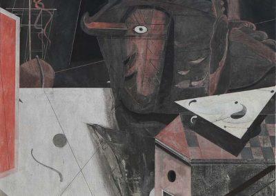 13. 2013 ARKITEKTI HYNOR. 150cm X 150cm. Akril,boje Metalixato Mbi Kanavace..