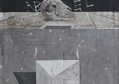 22. 2014 KURBANI. 150cm X 150cm. Akril,boje Metalixato Mbi Kanavace..