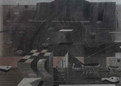 27. 2014 ATLANTIDA. 200cm X 150cm. Akril,boje Metalixato Mbi Kanavace..
