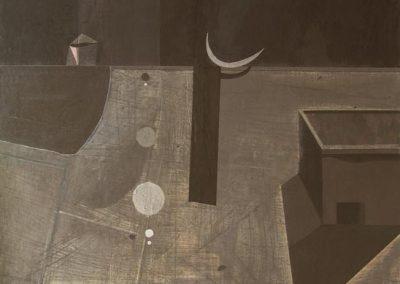 30. 2004 TEMPULLI I SOLOMONIT. 127cm X 190cm. Akril,boje Metalixato..