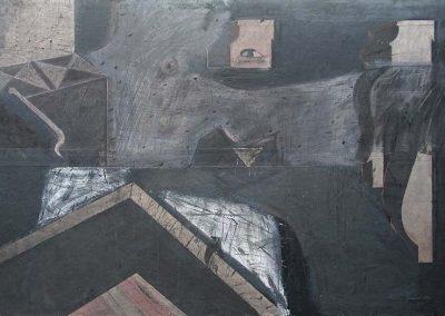 31. 2004 MALI I SHENJTE. 127cm X 190cm. Akril,boje Metalixato..